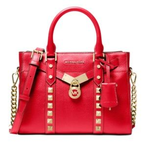 Michael Kors Nouveau Hamilton Small Satchel Red